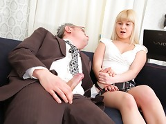 The tricky old teacher wants to get his hands on Candy so bad he's prepared to do just about anything to do it. It doesn't take much in the end, simply getting his cock out does the job; nice and easy!video