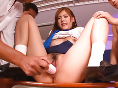 Great group scene with a nasty babe Nozomi Nishiyama in the schoolvideo
