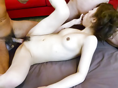Horny Tsubasa Aihara meets two cocks and gets fucked hardvideo