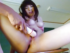 Awesome schoolgirl Yuri Sato wets desk with her pussy juicevideo