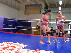 Nude Fight Club presents Becky Stevens vs Barbie Blackvideo