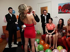 Sexy fucking girls at a B-day partyvideo