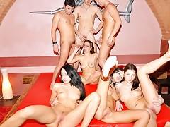 Impressive college DP party sex scenevideo