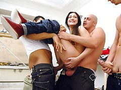 Title: A group of builders Hard Fucked Woman