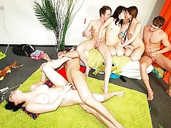 Naughty games leading to group sexvideo