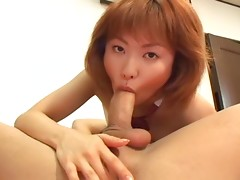 Young and playful sexy hot student Kyouka Usami likes to stick it in her mouth while she gets fingered.video